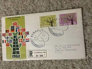 LUXEMBURG 1962 EUROPA CEPT SET ON FDC EUROPA TREE