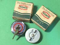 TEXACO 59 60 61 62 63 Ford Galaxie 66 67 68 Fairlane Std. & Locking Gas Cap Set!