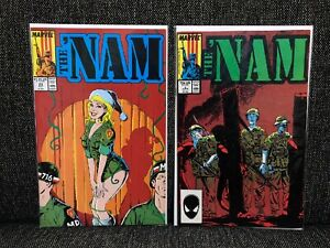 The NAM #5 #23 Marvel Comic Books Vietnam Army 25th Infantry Christmas 1987 1988