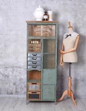 Schubladenschrank Hochkommode Vintage Regal Metallschrank Vitrine Metallregal