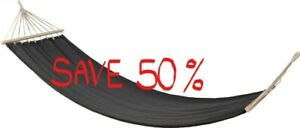 BLACK FABRIC HAMMOCK WITH THICK WOOD ENDS IN A SHOULDER BAG-REDUCED SAVE 50%