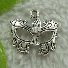 Free Ship 240 pieces tibet silver mask charms 22x22mm #2768