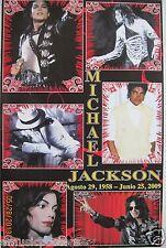 "Michael Jackson ""Agosto 29, 1958 - Junio 25, 2009"" Poster From Mexico-6 Mj Shots"