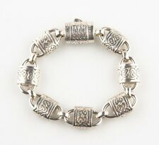 Celtic Knot and Lock Design Sterling Silver Bracelet, Size 7