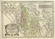 Albanien Montenegro Original Kupferstich Landkarte Reilly 1789