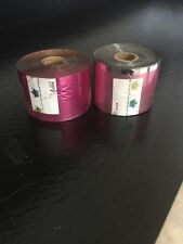 "lot of 2 rolls Pink Foil ""Crown Roll Leaf"" Hot Stamping"