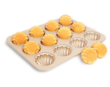12-cup Madeleine pan kitchen Non stick Bakeware shell cake golden baking mould