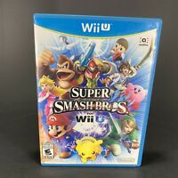 Super Smash Bros. Nintendo Wii U Game Complete CIB Free Shipping