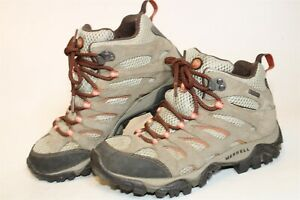 Merrell Womens 6.5 37 Moab II Mid Suede Hiking Trail Ankle Mountain Boots J88790