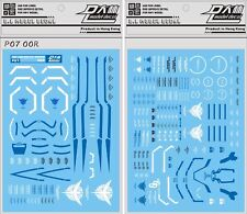 US Seller Gundam Gunpla waterslide decal D.L Dalin PG 1/60 00R 00 Raiser