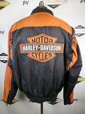 E8089 VTG HARLEY-DAVIDSON Motorcycle Biker Rider SPELL-OUT LOGO Jacket Size XL