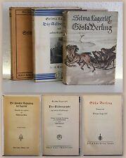 3 Bände Selma Lagerlöf Die Silbergrube EA 1930 Erzählungen 1926 Cösta Berling xz