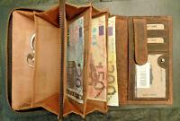 Büffelleder Geldbörse Edelstahl Hosenkette Biker-Wallet Kettenbörse Rocker