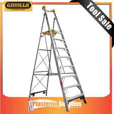 Gorilla 2.4m 150kg Industrial 8 Step Platform Aluminium Ladder PL008-I