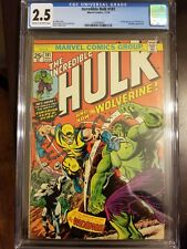 The Incredible Hulk #181 (Nov 1974, Marvel) CGC 2.5. First Wolverine!
