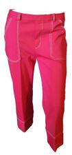 Pantalone Corto 3/4 Capri Pinocchietto Elegante Rosso Donna  LUISELLA MARIANI  M
