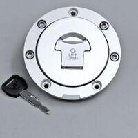 Fuel Gas Tank Cap Cover Lock For Honda CBR600RR 03-17 CBR1000RR 04-14 With Key