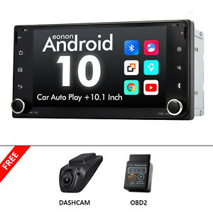 """OBD+DVR+For Toyota Android 10 2Din Head Unit 7"""" Car Stereo GPS Radio DSP CarPlay"""