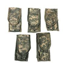 5 USGI ACU Double Mag Pouch Army MOLLE II Digital Camo 2 Magazine, DEFECT