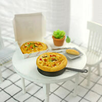 KQ_ 1/6 1/12 Mini Dollhouse Simulated Pizza with Take Away Box Kids DIY Toy Eage