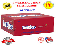 Twizzlers Licorice Candy Bulk, Strawberry Twists 2.5 oz packs 18 Count - On Sale