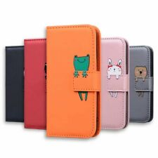 For iphone SE 2020 5S SE 6 7 8 XR XS Case Animal Leather Wallet Flip Stand Cover