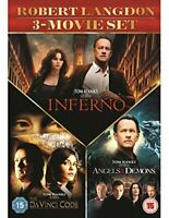 Inferno, Angels and Demons and The Da Vinci Code  [DVD] [2016][Region 2]