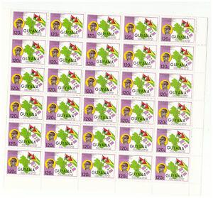 GUYANA SC.1506 & A508 1986 FLAGS & MAPS PORTRAIT & NECKLACE BLOCK OF 30 MNH PG28