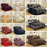 Bedspread Jacquard 7Pc (Piece) Comforter Set Bedding Set Double & King Sizes