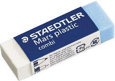 3 x Staedtler Mars plastic Combi Rubber Eraser - Pencil & Ink Eraser