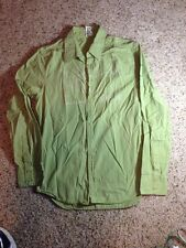 Hurley Men's Long Sleeve Button Down Shirt Green Size Small. Ked