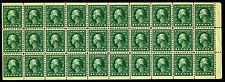 498f 1 Cent, 1917 Green Aef Booklet Pane of 30 Mint Xf Original Gum No Hinged