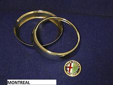 MONTREAL ALFA ROMEO COPPIA CORNICI FARO REPLICA 2 PCS HEADLAMP RINGS REPLICA