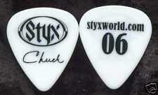 STYX 2006 Tour Guitar Pick!! CHUCK PANOZZO custom concert stage semi-transparent