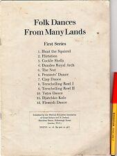 Rare Vintage 12 FOLK DANCES Sheet Music Book