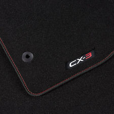 MAZDA CX3 FLOOR MATS LUXURY RED STITCHING BRAND NEW GENUINE PARTS