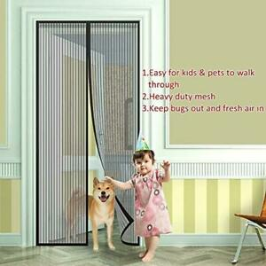 Magnetic Fly Screen, Mesh Curtain Guard, for Patio/ Double/ French/ Sliding Door