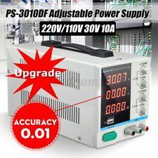 Genauigkeit 0,01 USB Labornetzgerät  LED Labornetzteil DC Trafo Regelbar 30V 10A