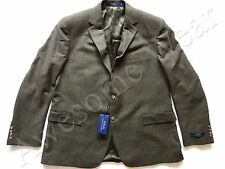 New Ralph Lauren Polo 100% Wool Olive Brown Plaid Sport Coat Jacket sz 48 R
