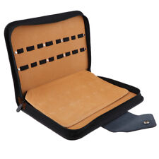 Multi-use Leather Haircut Tools Holder Scissor Makeup Brush Carry Case Large