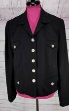Ralph Lauren  Elegant Little Black Silk Blazer Jacket Sz 16