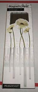 5 Peleg Magnetic Flower Vase Set Silver Home Garden Modern Peleg Design
