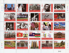 Kenya 2015 MNH Independence 50th Ann 25v M/S II Politicians Architecture Stamps
