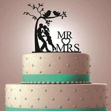 PERSONALIZED CUSTOM Mr & Mrs WEDDING CAKE TOPPER LASER CUT BLACK SILHOUETTE GIFT