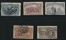 UNITED STATES (5) 1893 #230, #231, #233, #234 & #237, Columbian Expo