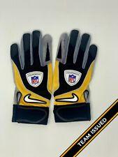 Pittsburgh Steelers Team Issued 86 Hines Ward Nike NFL Equipment Football Gloves