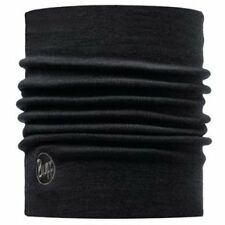 Buff Black Merino Wool Thermal - Solid Neck Warmer
