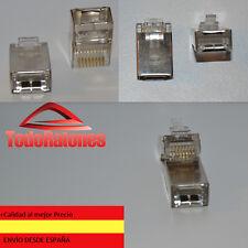 10x Fiche Connecteurs Métallique RJ45 Réseau Ethernet Sertissage Blindées cat6
