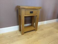 Kingsford Oak Telephone Table / Small Console Table / Narrow Hallway Unit