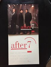 """After 7 Promo Poster 2-Sided Flat 12""""X12"""" mint condition 1989 Rare Vintage"""